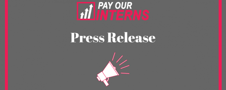 Statement on Pay Our Interns' 3 Year Anniversary
