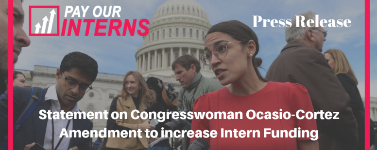 Statement on Congresswoman Alexandria Ocasio-Cortez Amendment